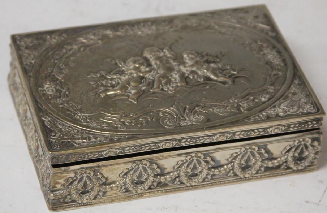 CONTINENTAL .800 SILVER DRESSER BOX