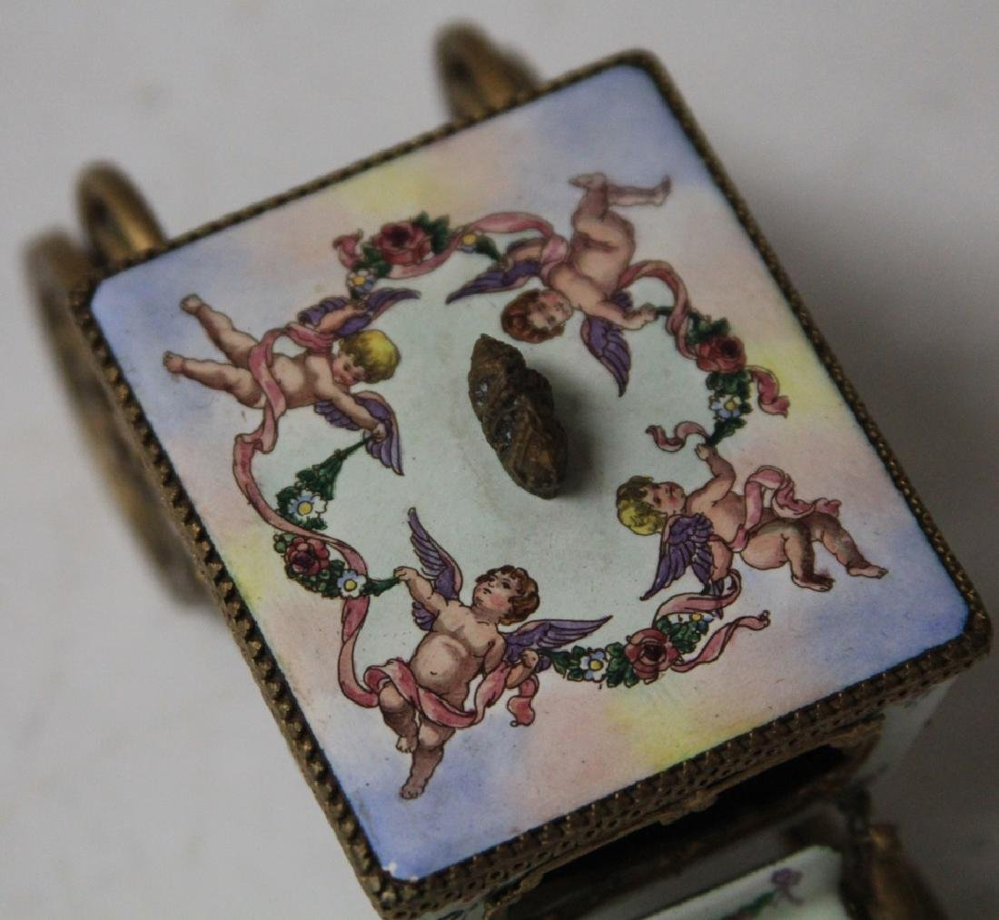 EARLY AUSTRIAN ENAMELED CARRIAGE - 2
