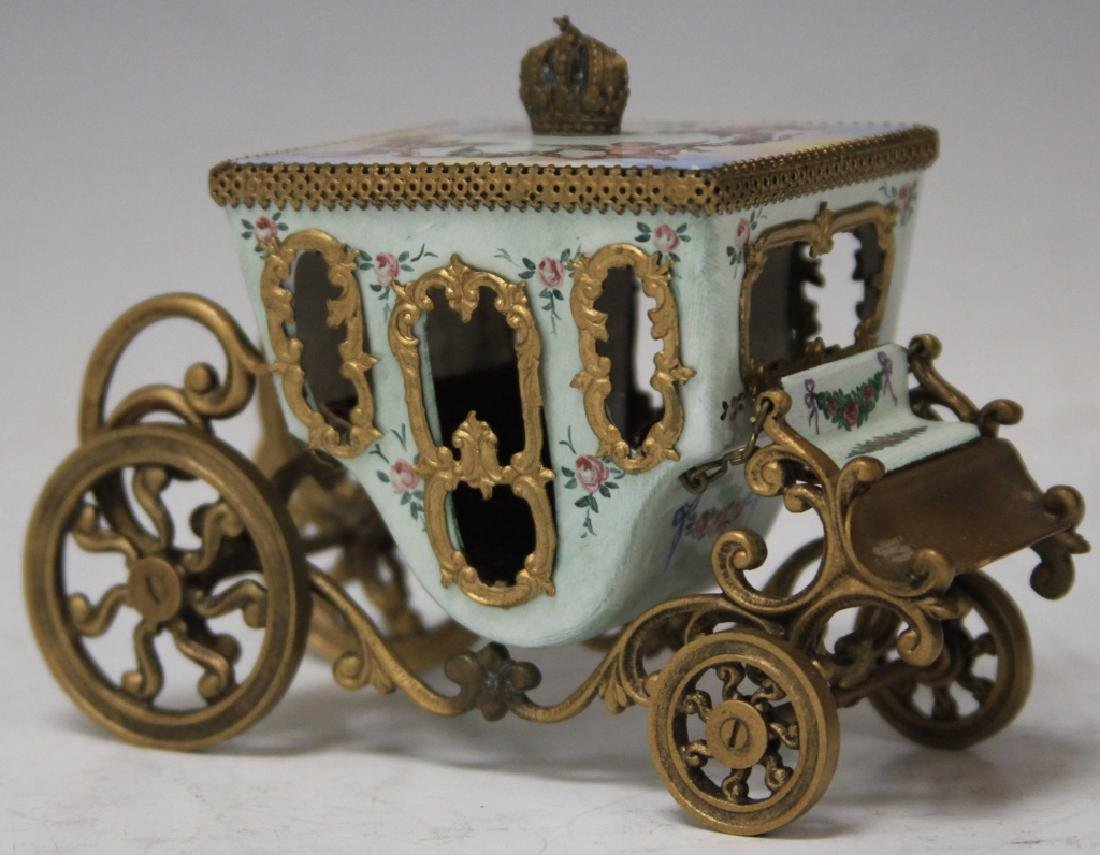 EARLY AUSTRIAN ENAMELED CARRIAGE - 3