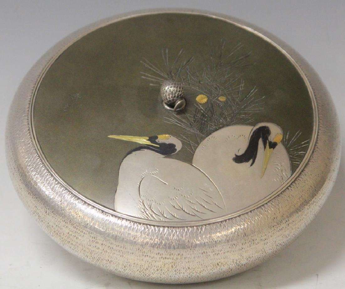 FINE JAPANESE SILVER COVERED BOX