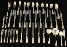 WALLACE ROSE POINT STERLING SILVER FLATWARE