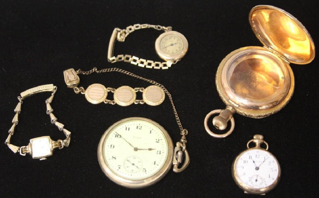 LOT OF (5) POCKET & WRISTWATCHES