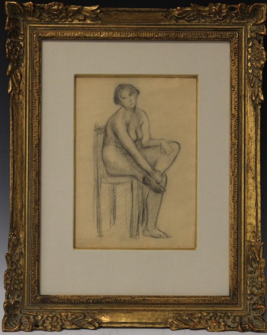 EUGENE CARRIERE (1849-1906), PENCIL DRAWING