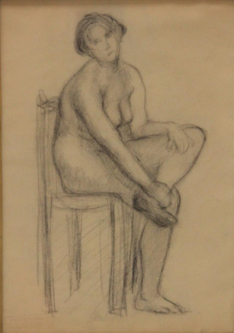 EUGENE CARRIERE (1849-1906), PENCIL DRAWING - 2