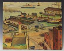 OIL ON BOARD OF VIEW OF SAN FRANCISCO BAY