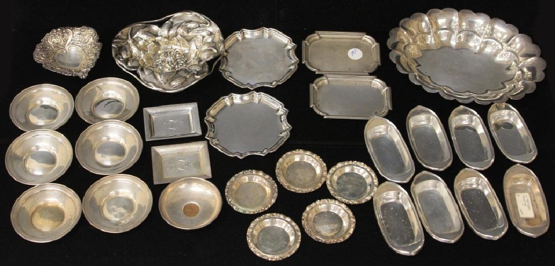 LOT OF (33) STERLING SILVER TRAYS/BOWLS