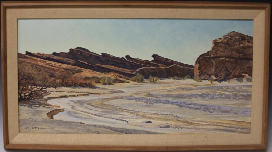 RAY STRONG (1905-2006), OIL ON BOARD