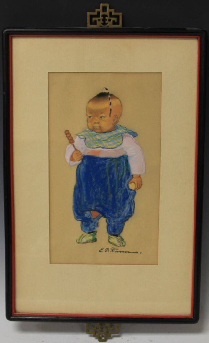 VINTAGE CHINESE PASTEL BY E.O. DUNN