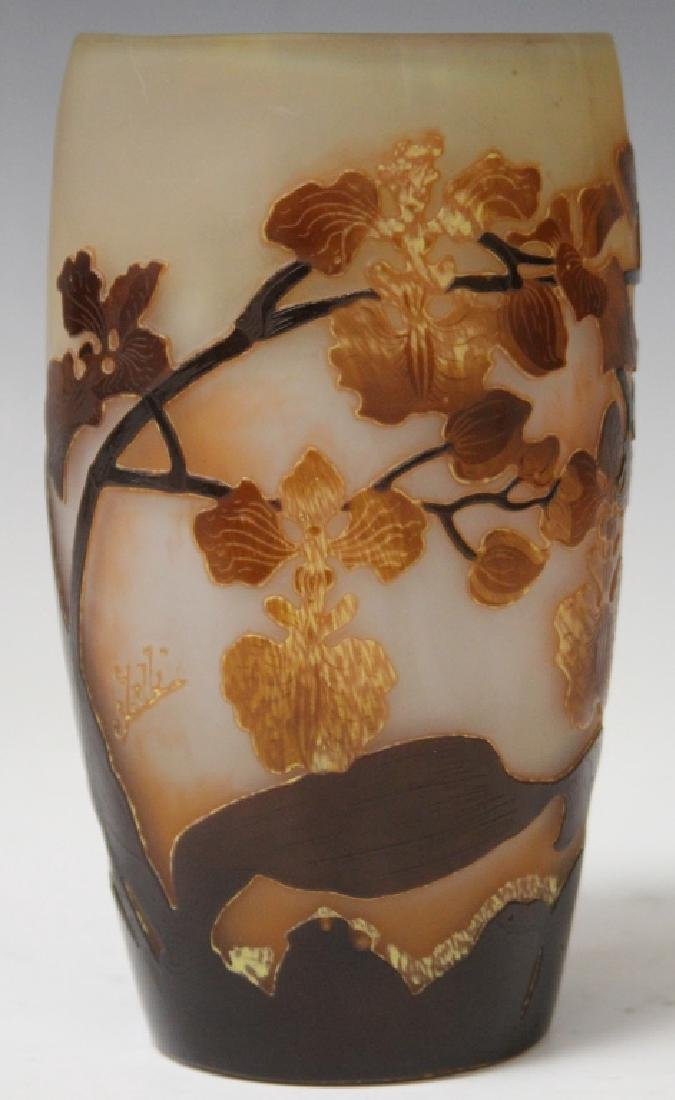 GALLE VASE WITH FLORAL DESIGN