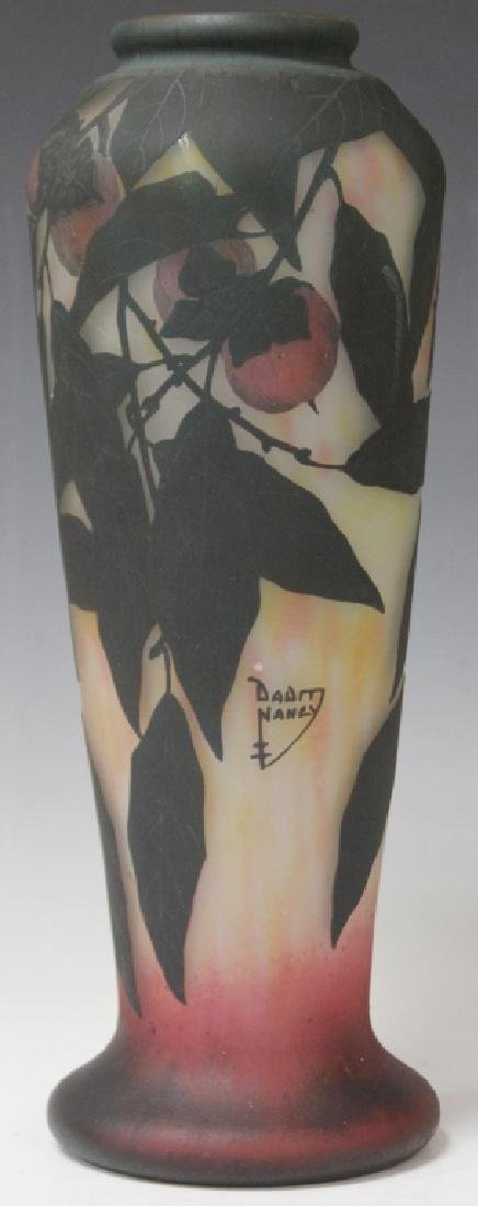 DAUM NANCY VASE WITH FRUIT - 4