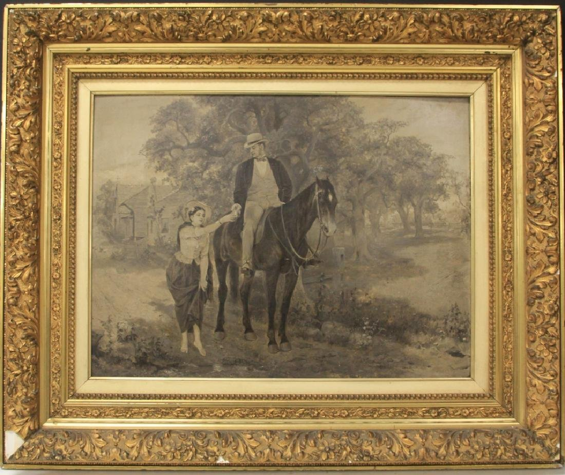 19TH CENTURY OIL ON BOARD, UNSIGNED