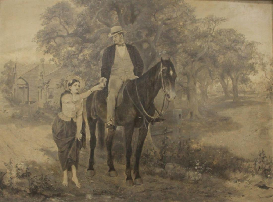 19TH CENTURY OIL ON BOARD, UNSIGNED - 2