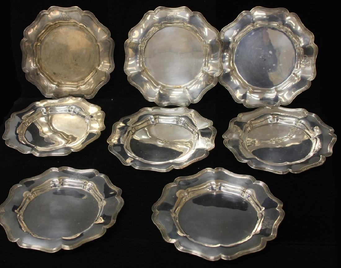 LOT OF (8) STERLING SILVER PLATES