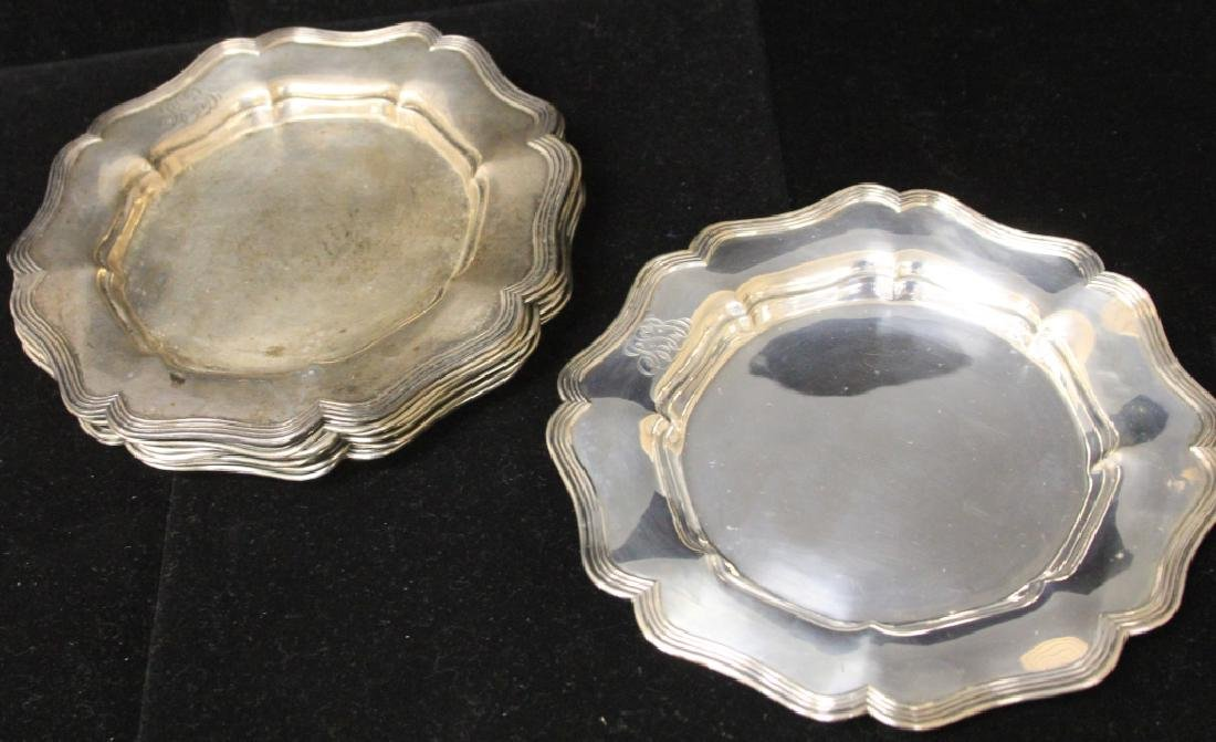 LOT OF (8) STERLING SILVER PLATES - 3