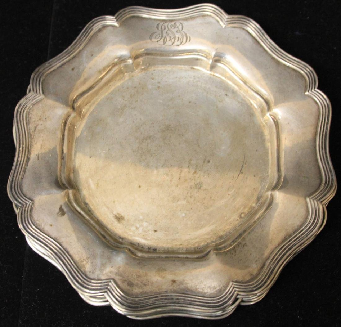 LOT OF (8) STERLING SILVER PLATES - 6