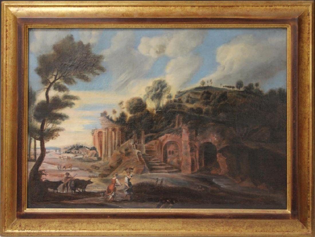 FRENCH 19TH CENTURY OIL ON CANVAS - 2