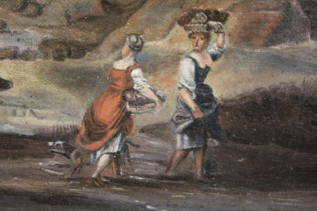 FRENCH 19TH CENTURY OIL ON CANVAS - 3