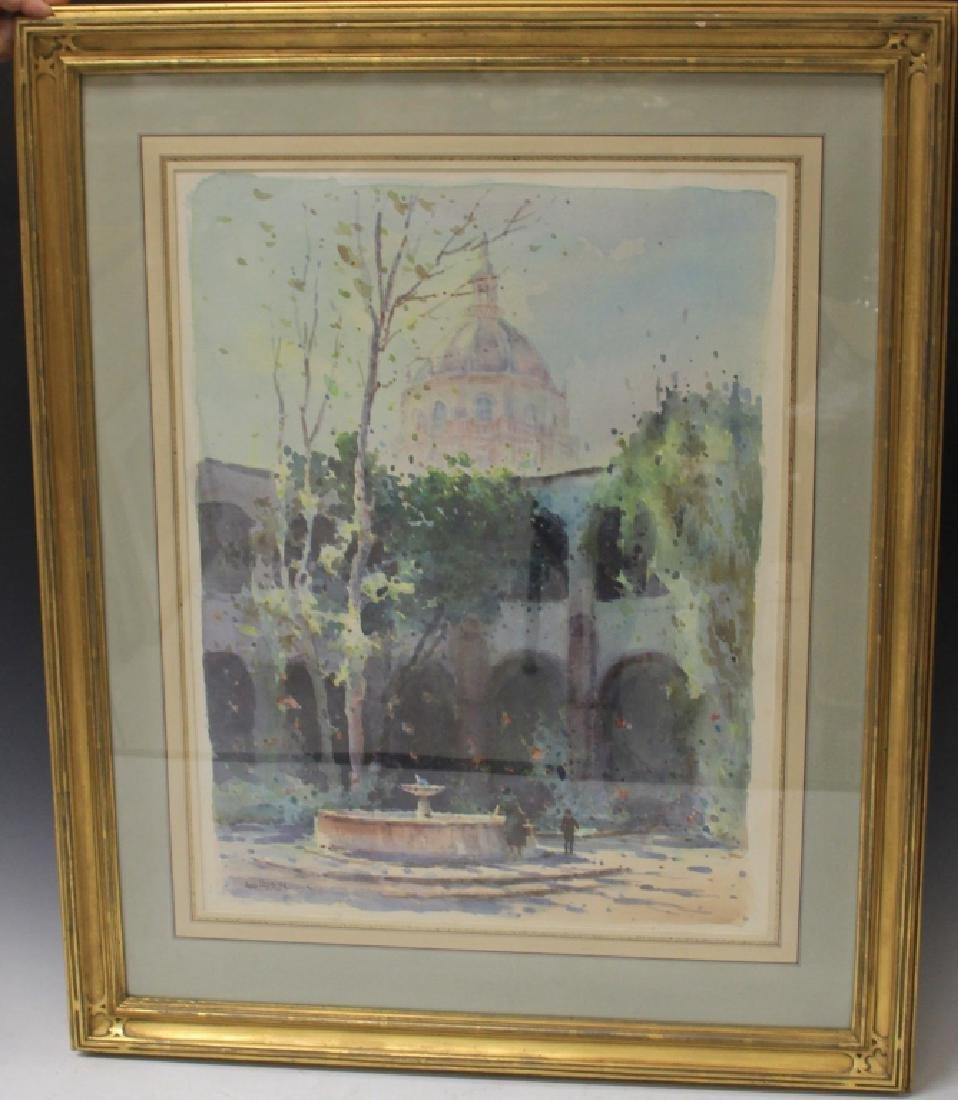 ARTIST SIGNED WATERCOLOR OF SAN MIGUEL DE ALLENDE