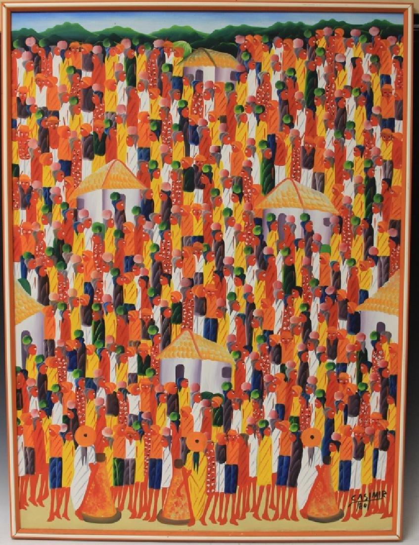 LAURENT CASIMIR (1928-1990), HAITIAN OIL ON CANVAS