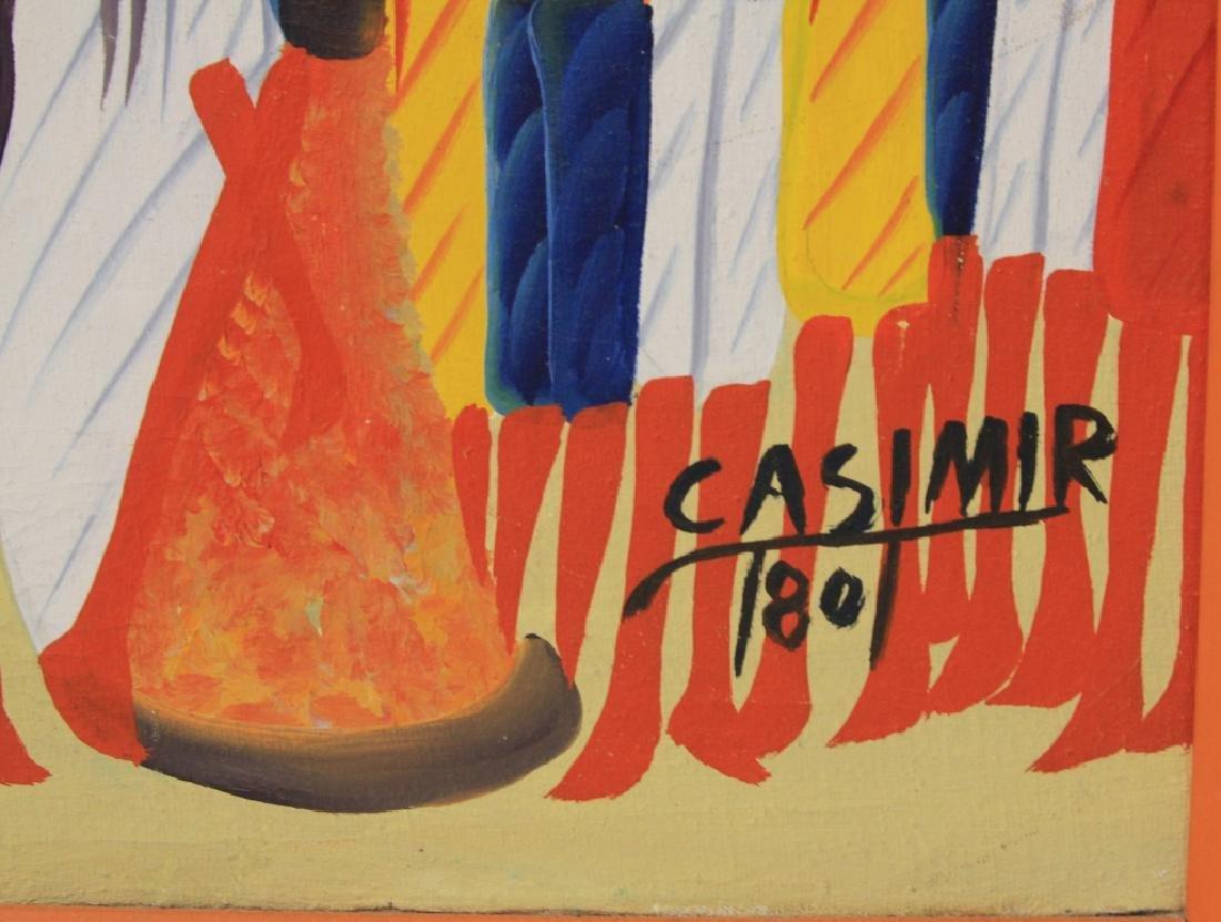 LAURENT CASIMIR (1928-1990), HAITIAN OIL ON CANVAS - 3