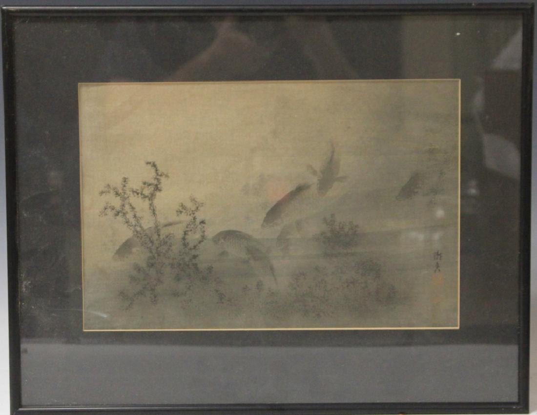 VINTAGE JAPANESE PAINTING ON SILK, SIGNED
