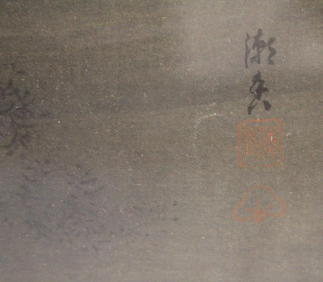 VINTAGE JAPANESE PAINTING ON SILK, SIGNED - 3
