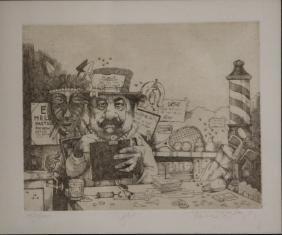 CHARLES BRAGG (b. 1931), ETCHING