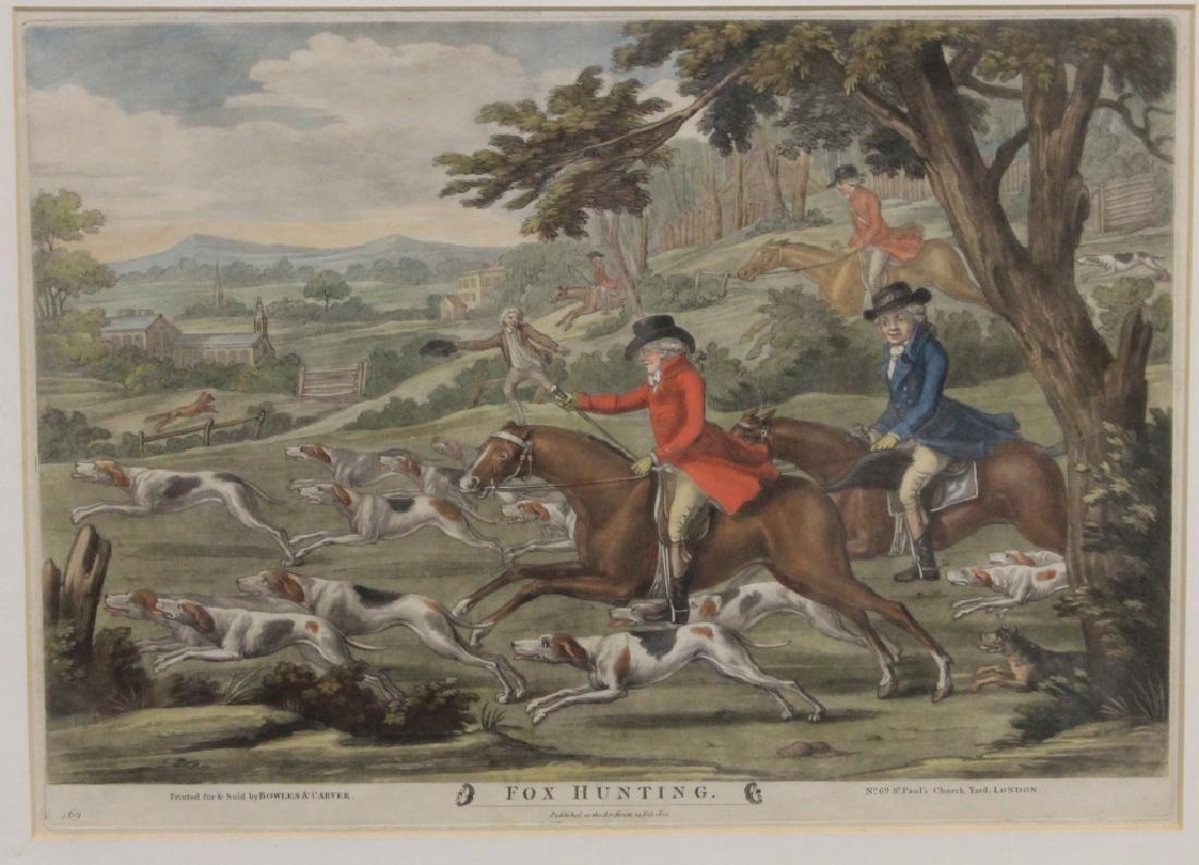 LOT OF (4) VINTAGE HORSE RACING PRINTS - 4