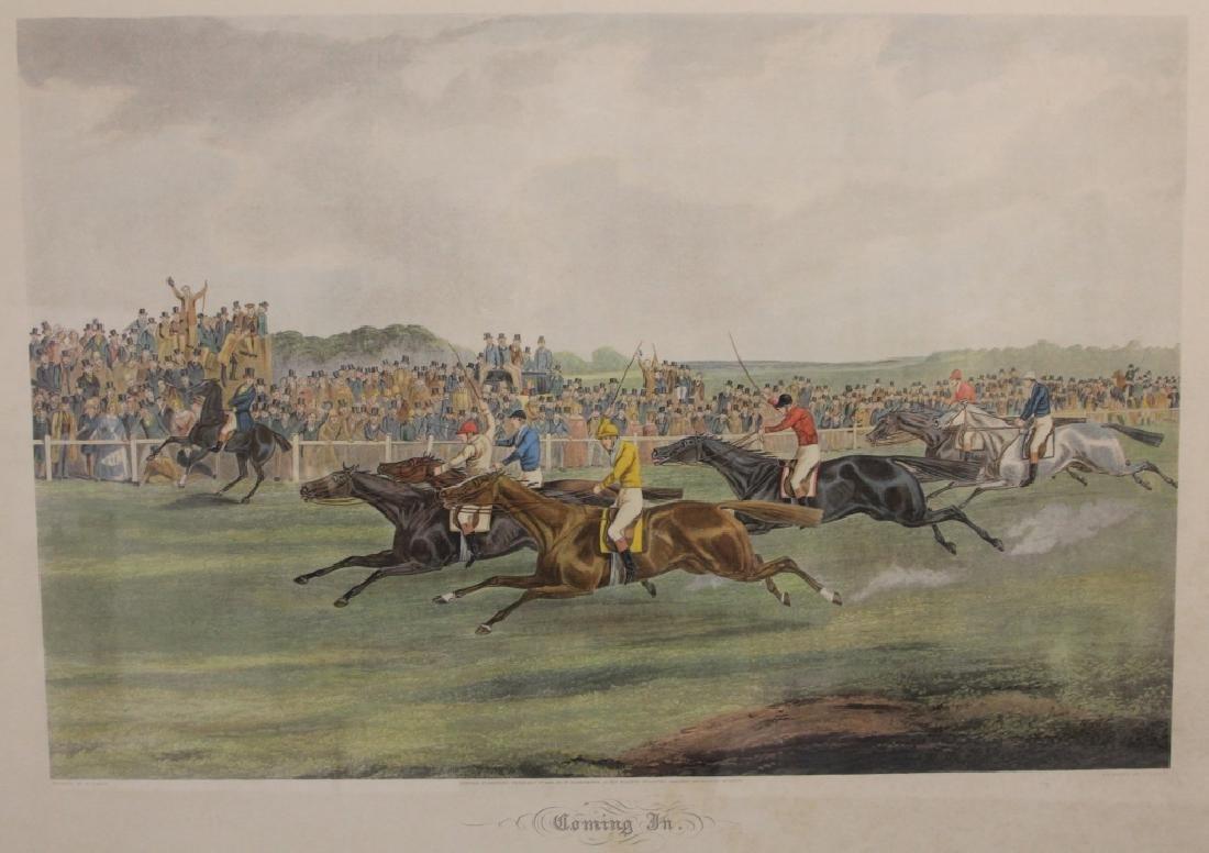 LOT OF (4) VINTAGE HORSE RACING PRINTS - 5