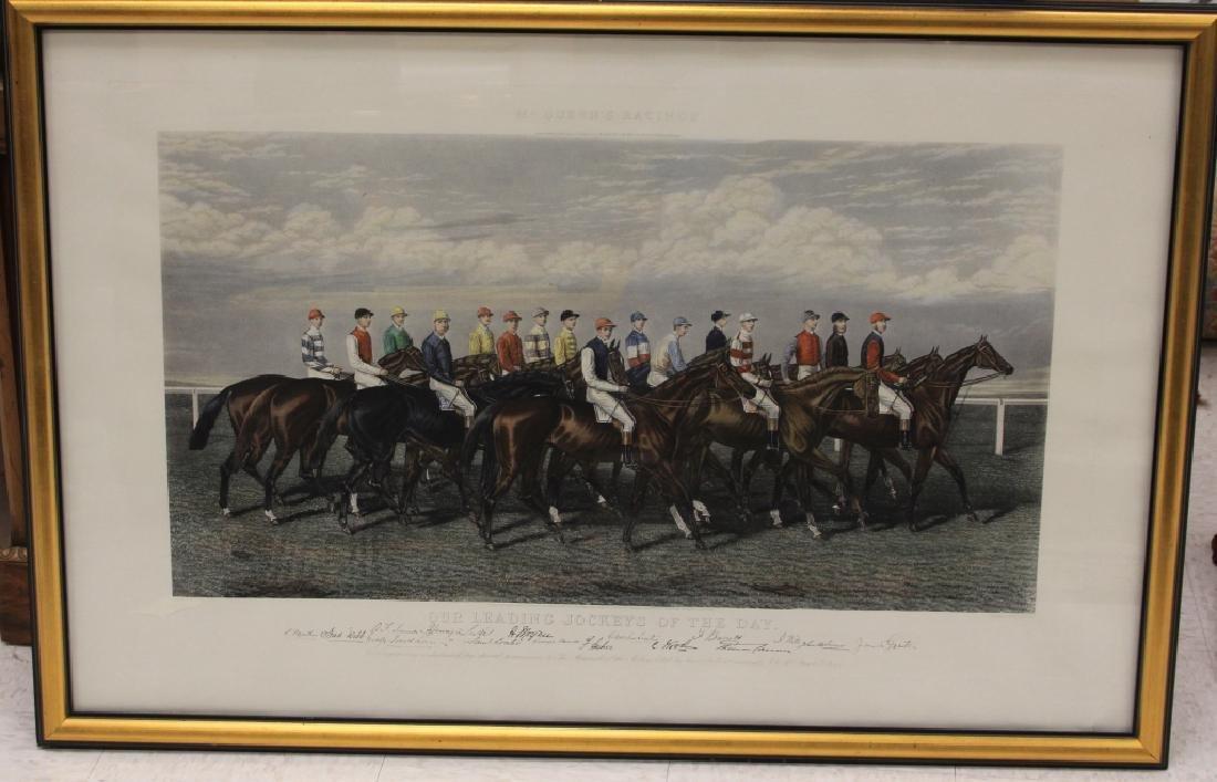 VINTAGE HORSE RACING PRINT, JOCKEY OF THE DAY
