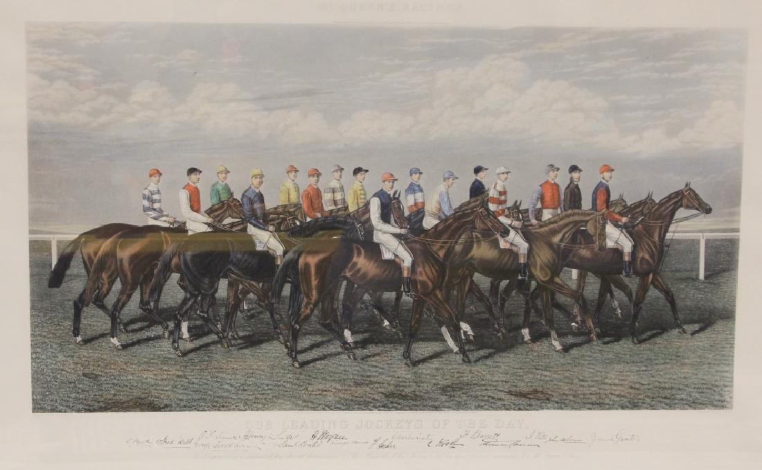 VINTAGE HORSE RACING PRINT, JOCKEY OF THE DAY - 2