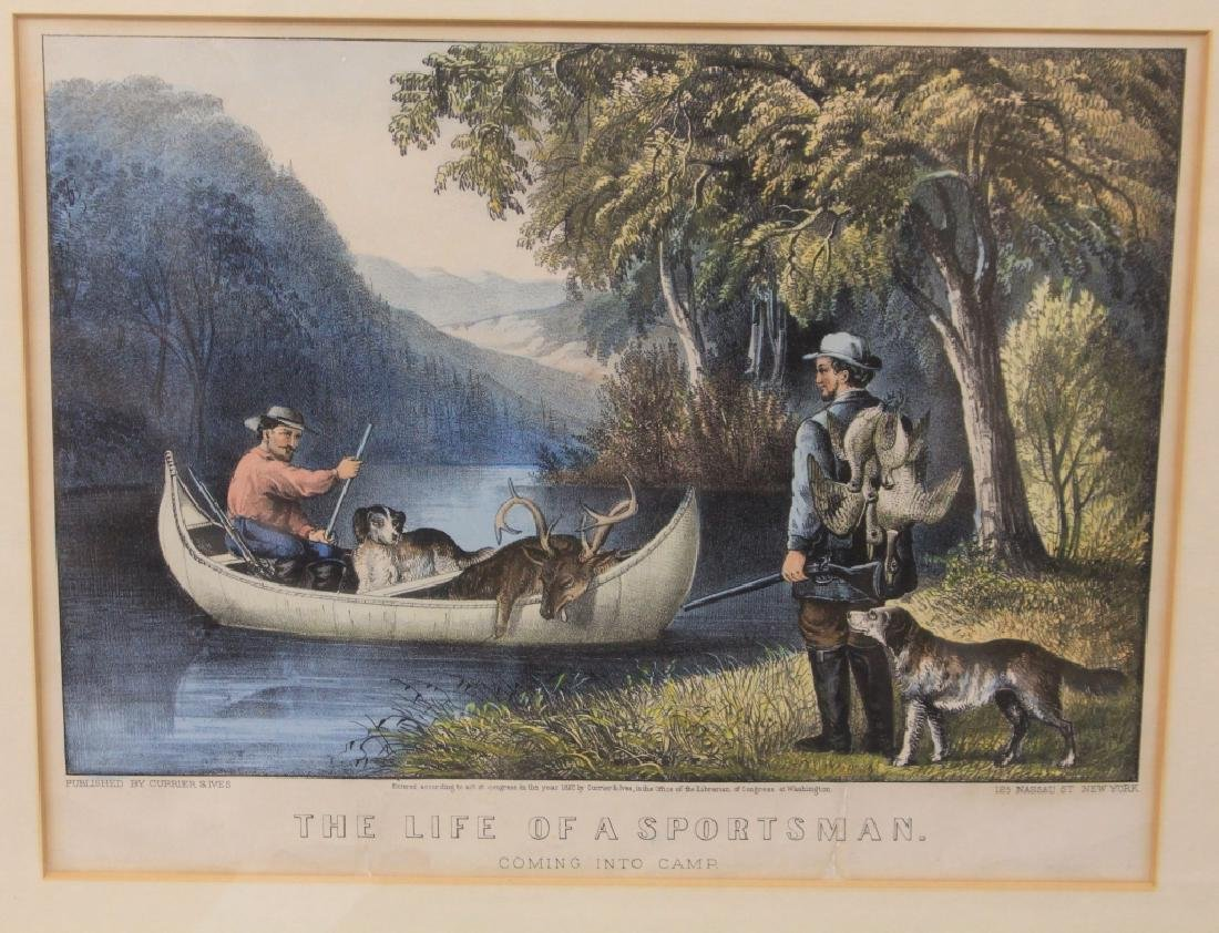 LOT OF (4) CURRIER AND IVES FRAMED PRINTS - 3