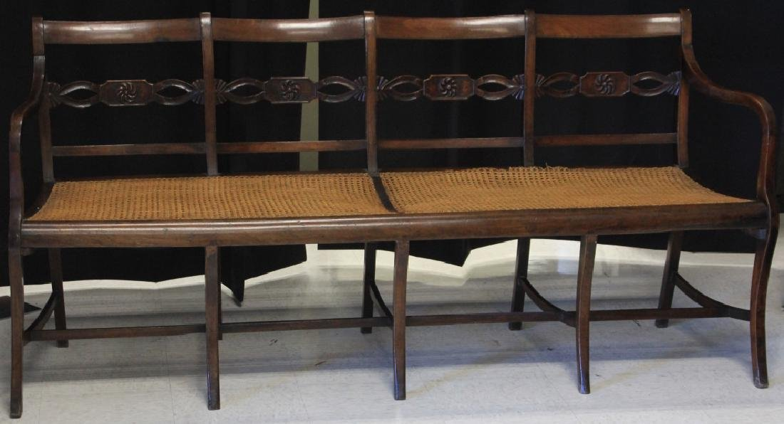 LATE 18TH CENTURY MAHOGANY BENCH