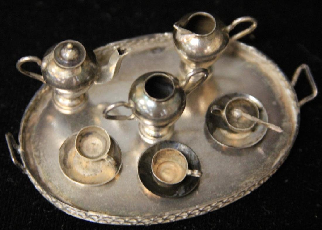 MINIATURE STERLING TEA SET, 12PCS - 2