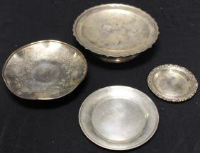 LOT OF (4) STERLING TRAYS