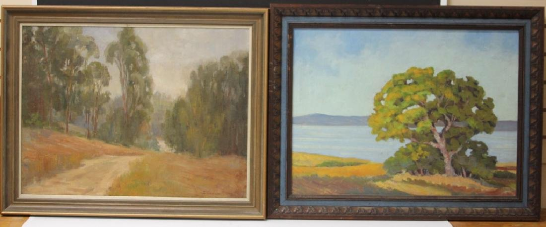 LOT OF (2) MID-CENTURY LANDSCAPES, OIL ON CANVAS