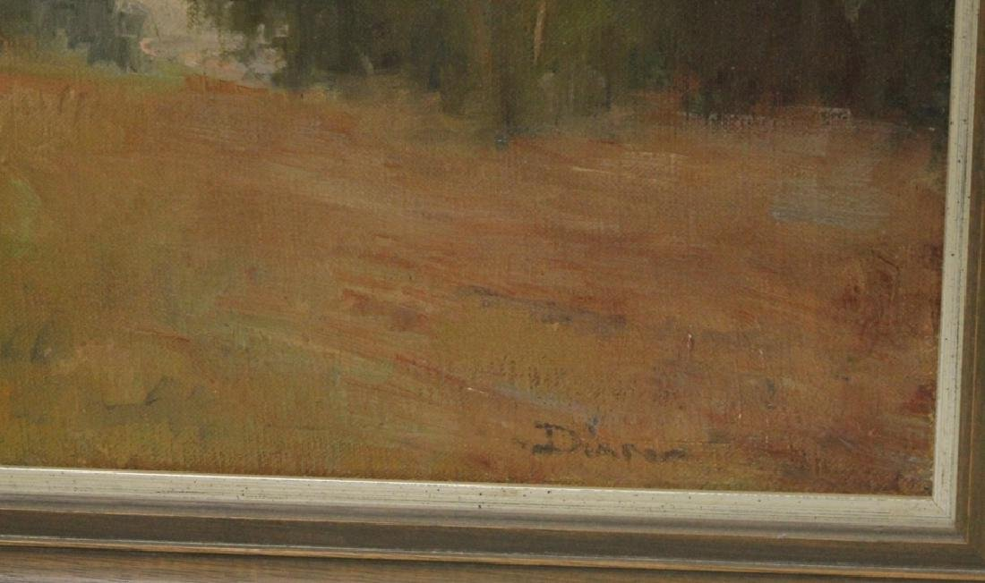 LOT OF (2) MID-CENTURY LANDSCAPES, OIL ON CANVAS - 3