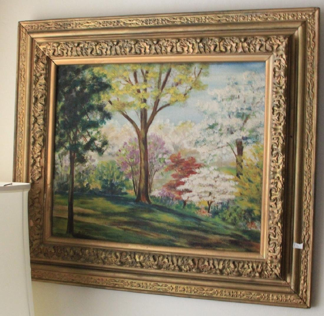 LOT OF (3) DECORATIVE ITEMS, PAINTINGS AND MIRROR