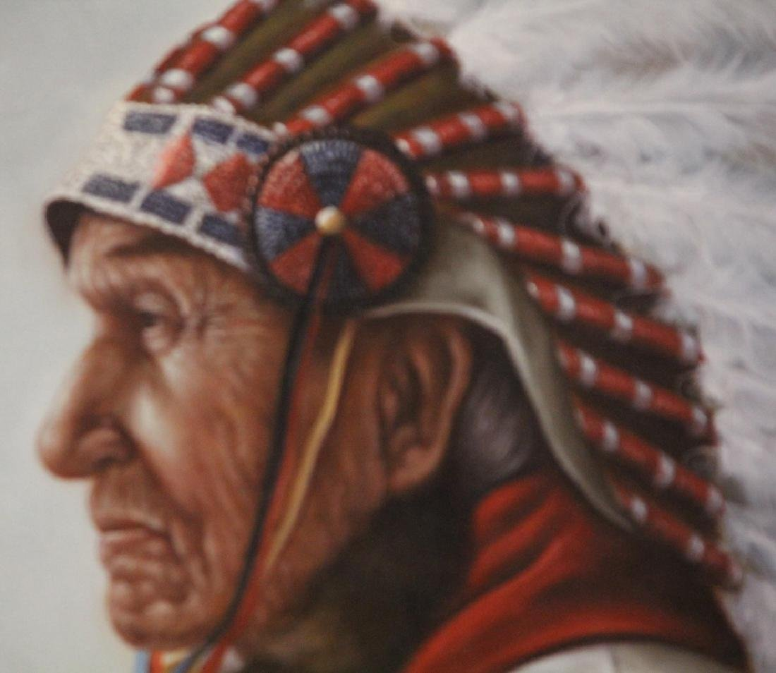 PORTRAIT OF NATIVE AMERICAN INDIAN, SIGNED GARCIA - 3