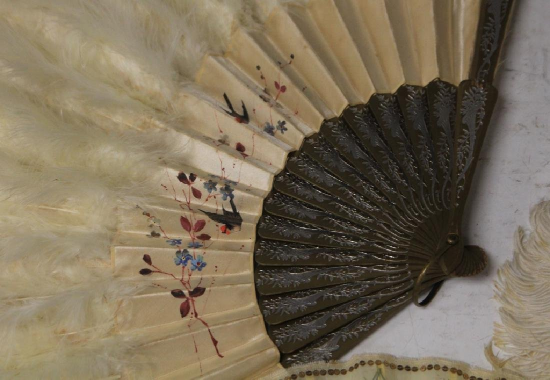 LOT OF (7) VINTAGE FANS, FRAME AND STATUE - 2