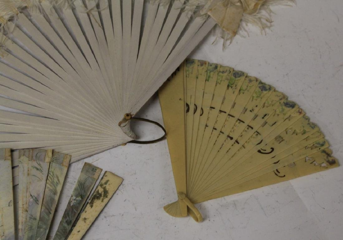 LOT OF (7) VINTAGE FANS, FRAME AND STATUE - 6