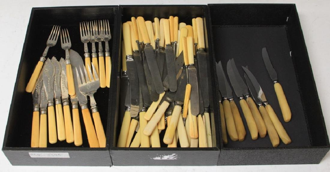 LOT OF (88) DINNER KNIVES AND FORKS