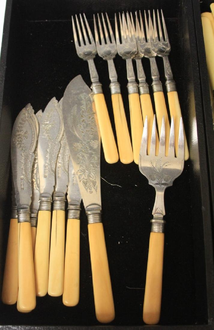 LOT OF (88) DINNER KNIVES AND FORKS - 2