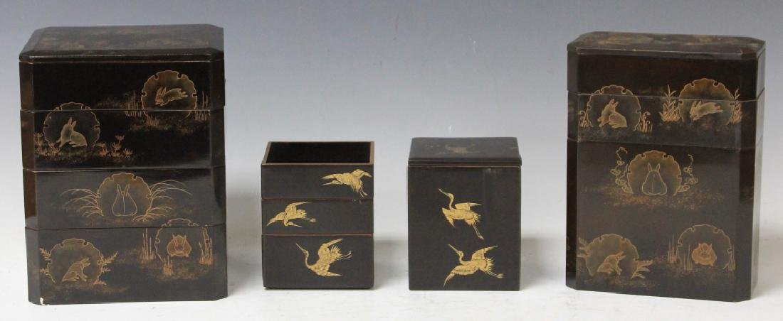 LOT OF (10) JAPANESE LACQUERED DESK SET - 2