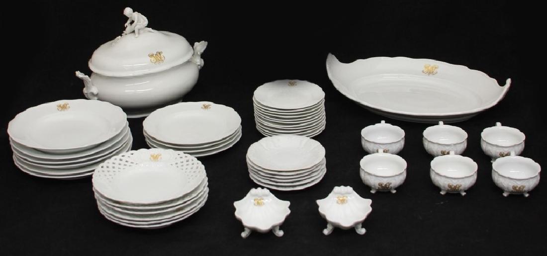 MESSEIN PORCELAIN DINNER SERVICE, 19TH CENTURY