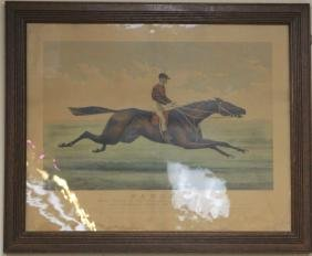 CURRIER AND IVES PAROLE HORSE RACE PRINT