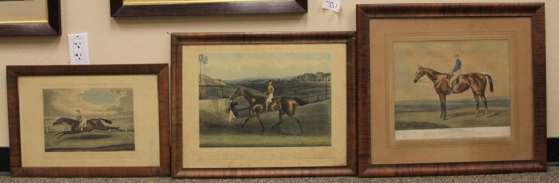 LOT OF (5) 19TH CENTURY HORSE RACING PRINTS