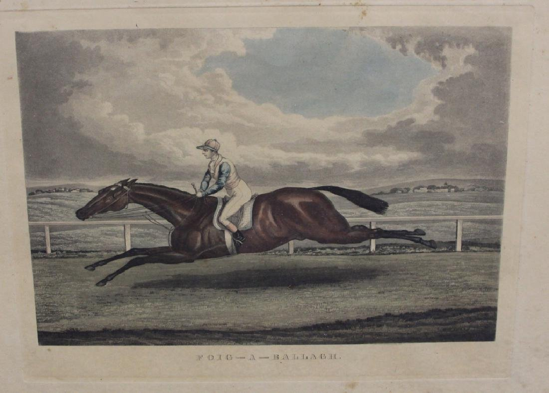 LOT OF (5) 19TH CENTURY HORSE RACING PRINTS - 2