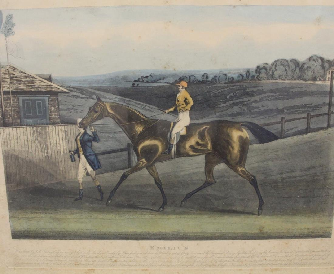 LOT OF (5) 19TH CENTURY HORSE RACING PRINTS - 3