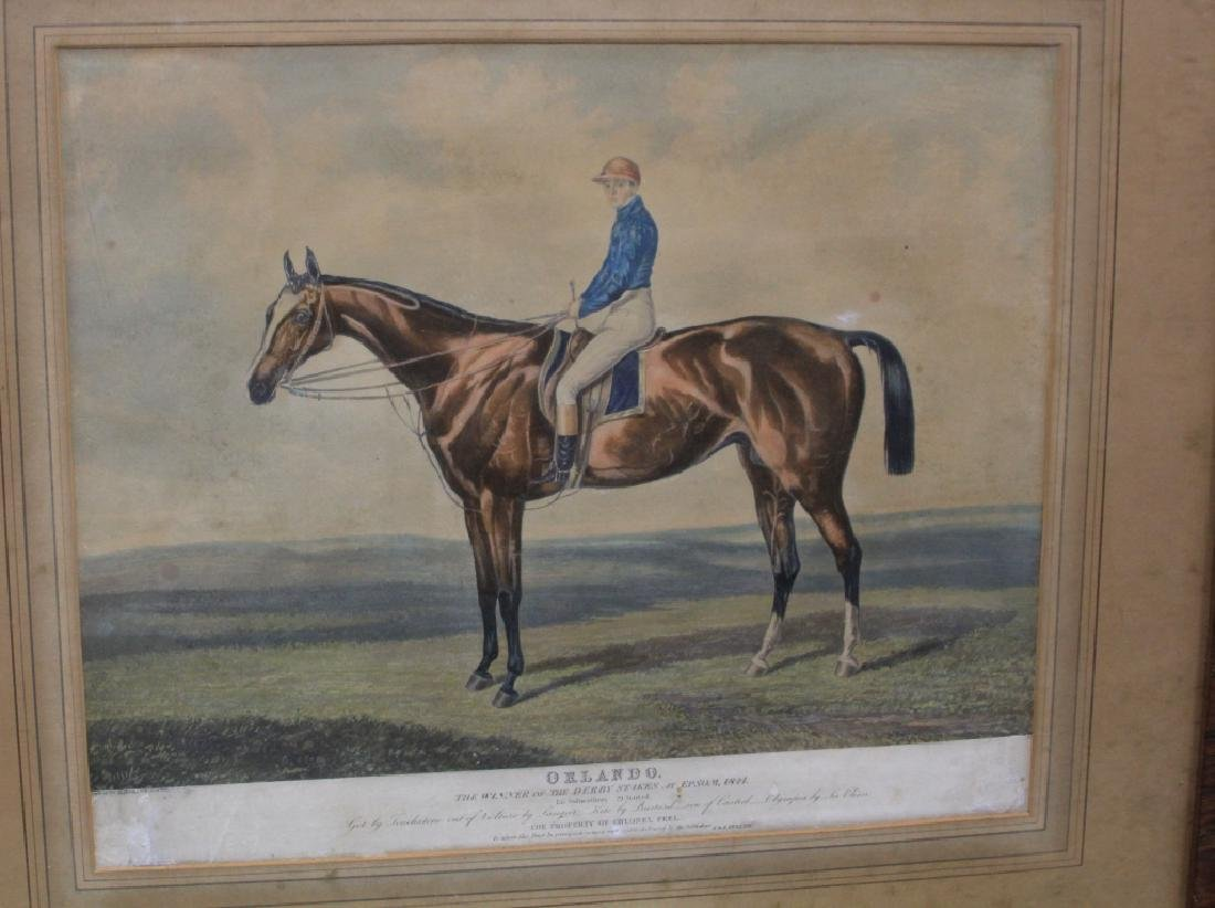 LOT OF (5) 19TH CENTURY HORSE RACING PRINTS - 4